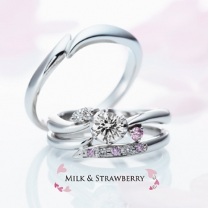 【GRACIS札幌駅前店】MILK&Strawberry 運命の象徴石♪