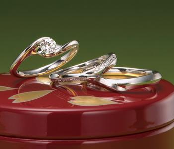 個性的 婚約指輪の四万十