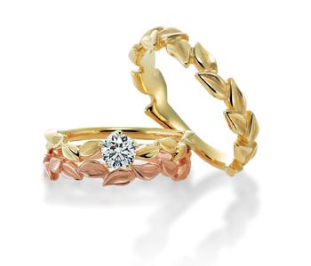 ゴージャス,個性的 婚約指輪のアローロ