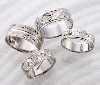 個性的 結婚指輪の