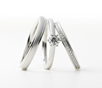 シンプル 婚約指輪のアルビレオ