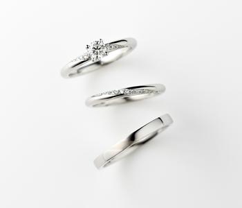 シンプル,フェミニン 婚約指輪のスピカ