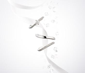 シンプル,フェミニン 婚約指輪のミラ