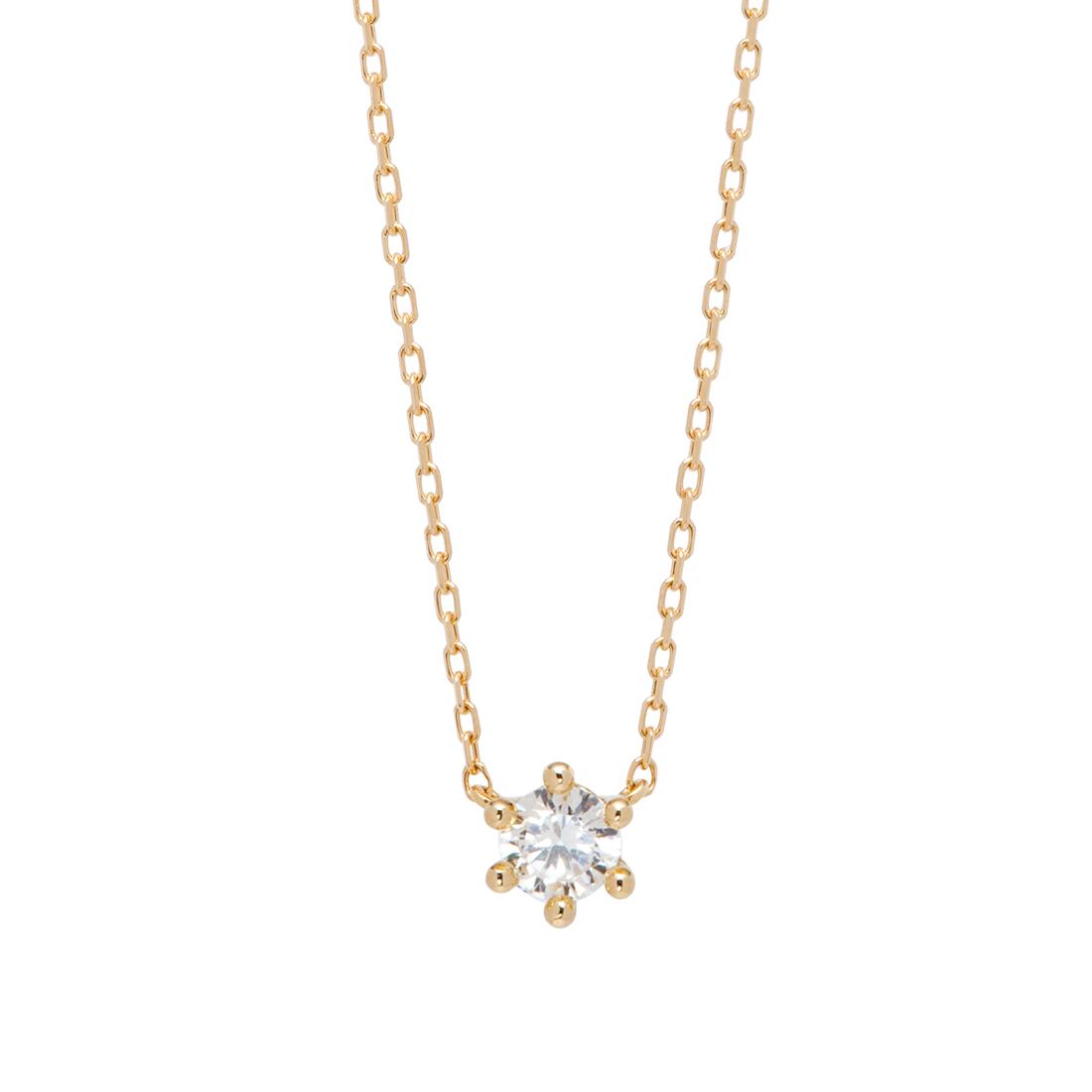 エンブレイスダイヤモンドネックレス