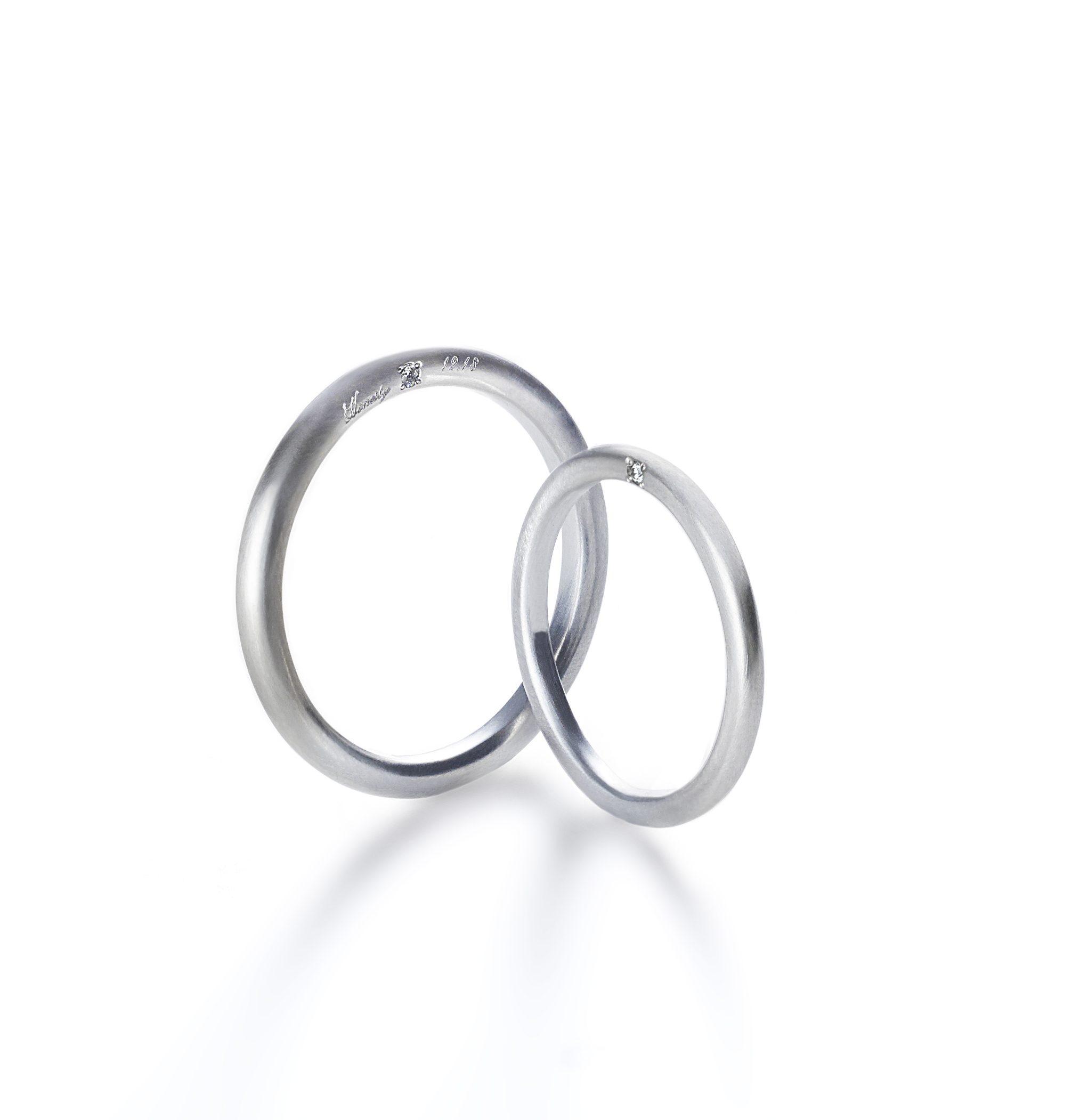 シンプル 結婚指輪のオネスティリング