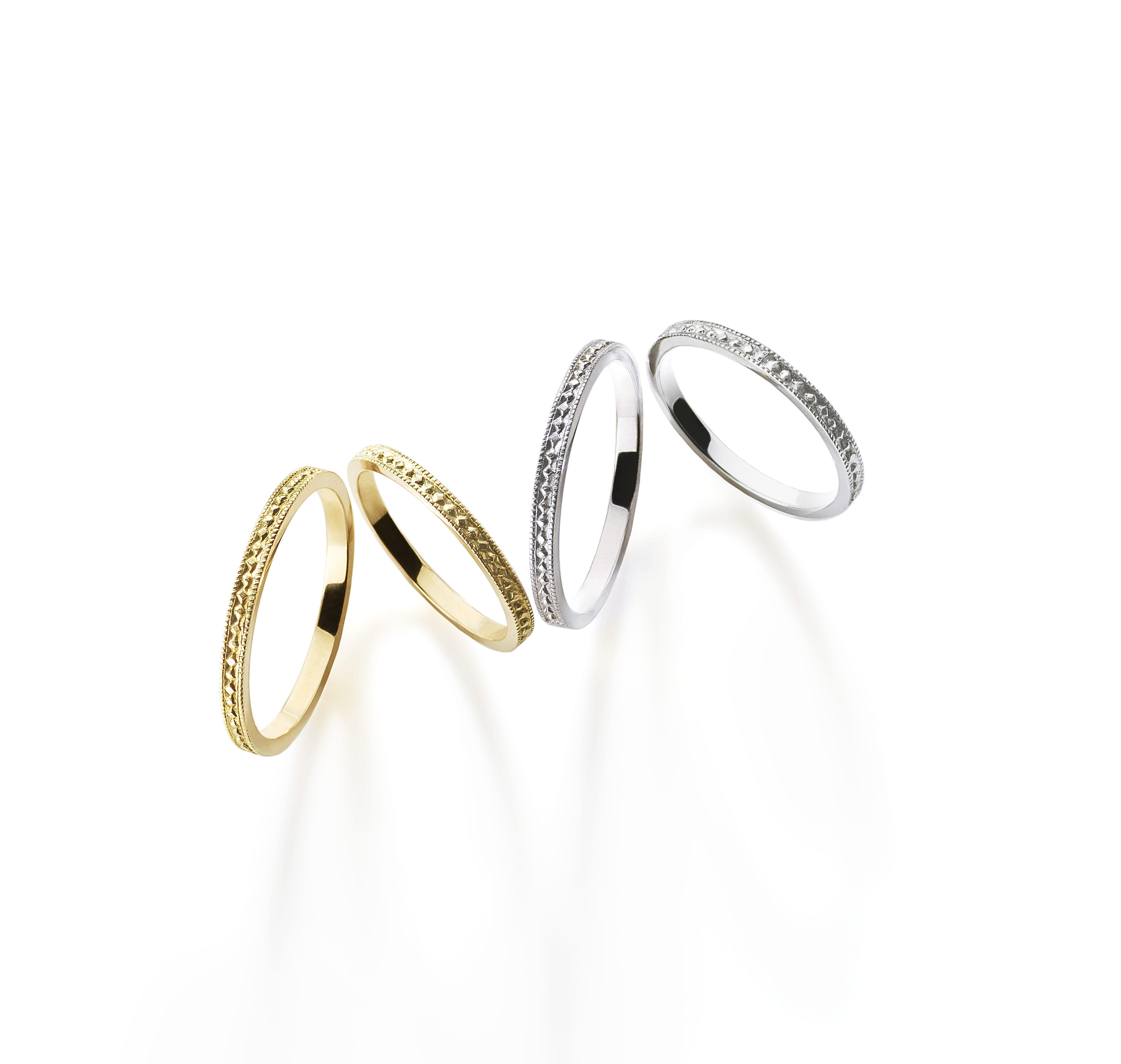 シンプル,アンティーク 結婚指輪のピュルテリング