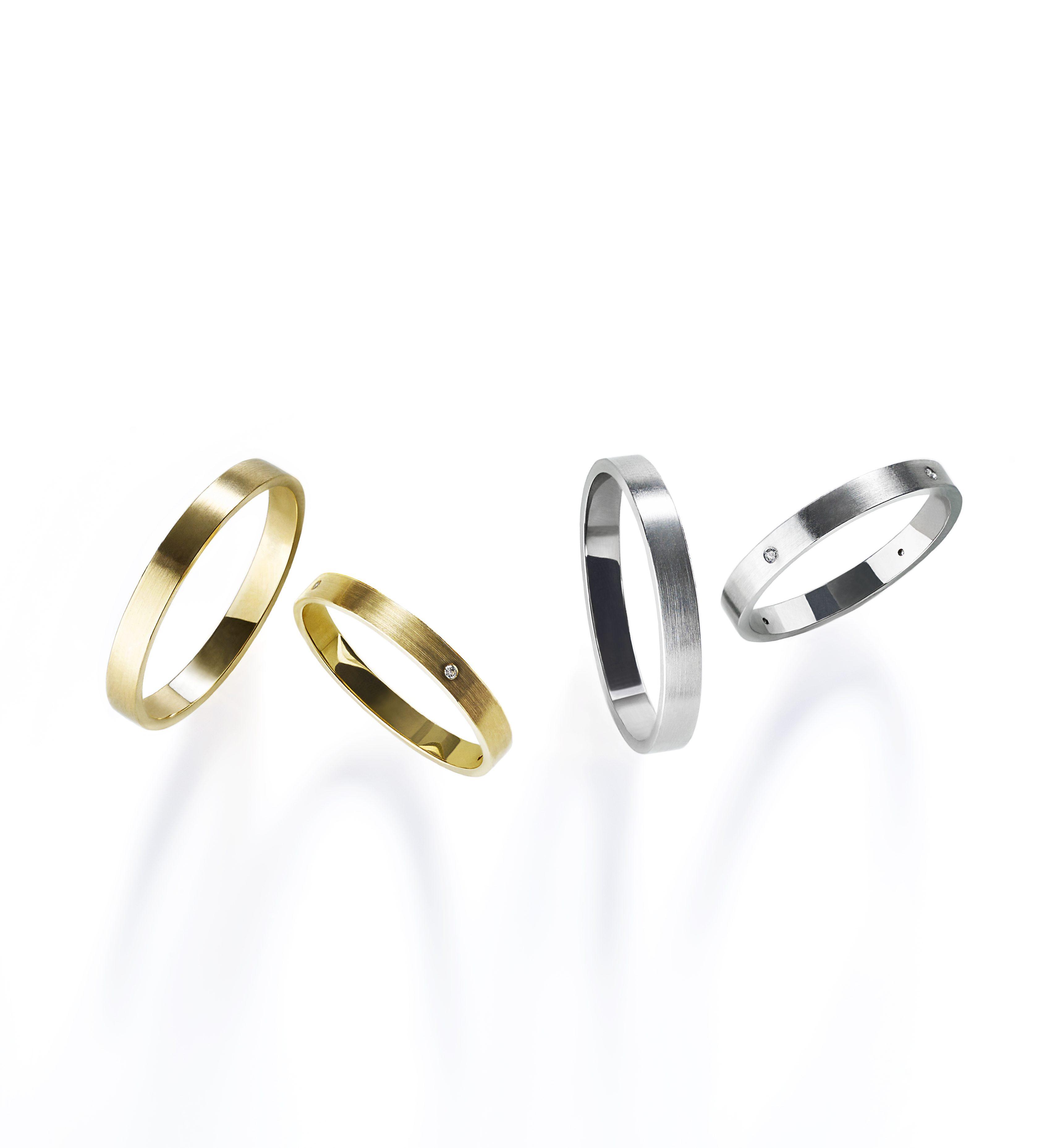 シンプル 結婚指輪のMリング