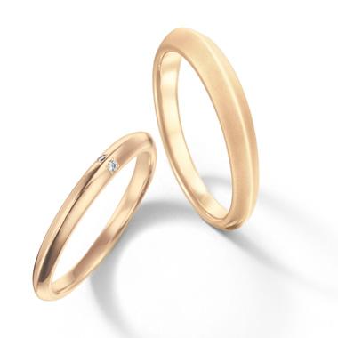 シンプル 結婚指輪のふたり