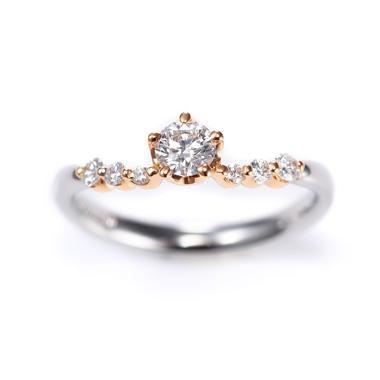 ゴージャス,アンティーク 婚約指輪のScintillement サンティユマン