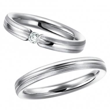シンプル 結婚指輪のblanc et blanc