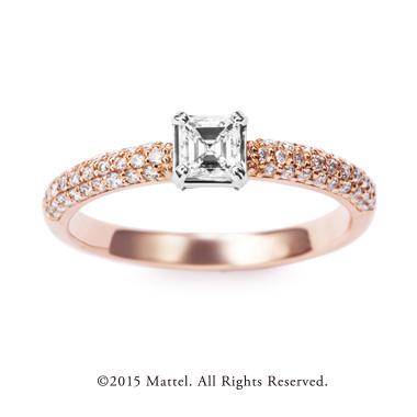 フェミニン,ゴージャス 婚約指輪のスパークル