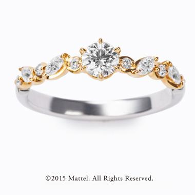 フェミニン,ゴージャス 婚約指輪のチアーズ