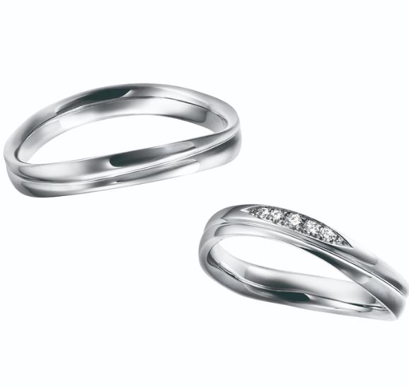 シンプル 結婚指輪のWave