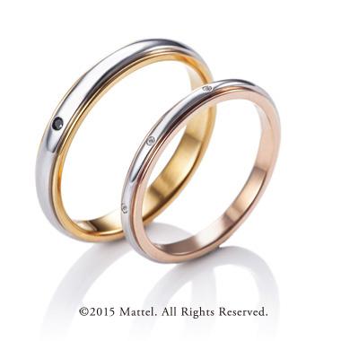 シンプル,フェミニン 結婚指輪のスパークル