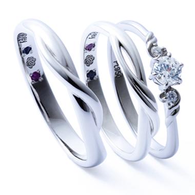フェミニン 婚約指輪のアリエル