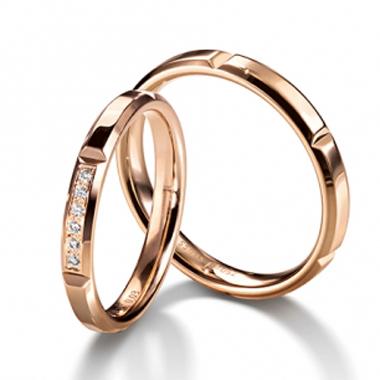 シンプル 結婚指輪のChocolate