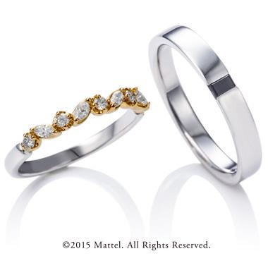 フェミニン,ゴージャス 結婚指輪のチアーズ