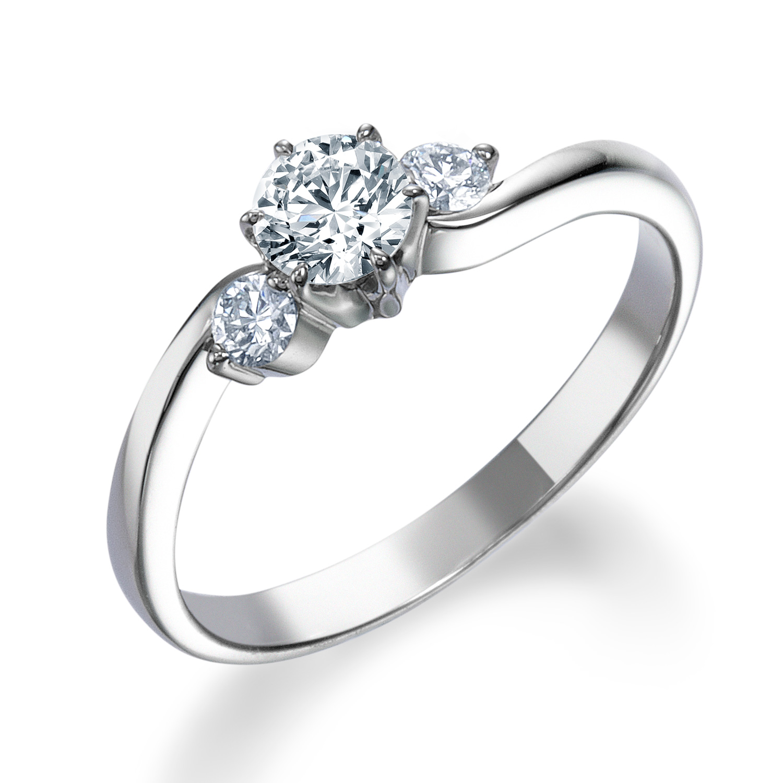 シンプル,ゴージャス 婚約指輪のERA680