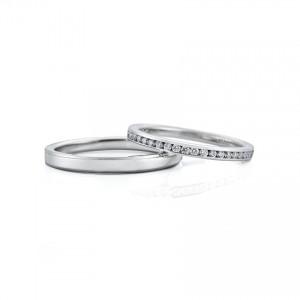 シンプル,ゴージャス 結婚指輪のJRA0202_WRA030