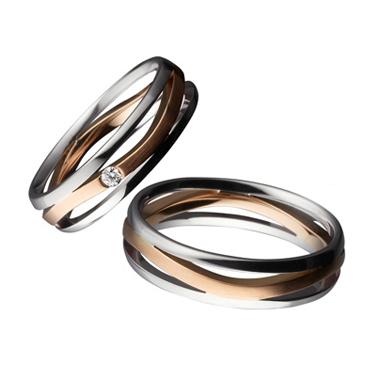 シンプル,個性的 結婚指輪のE40821/50-E30821/50