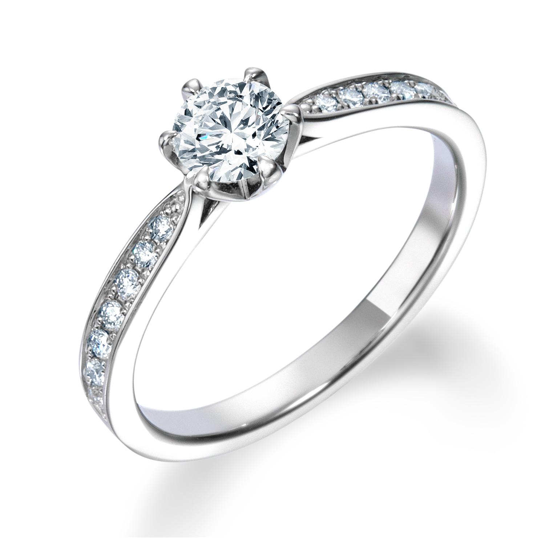 シンプル,ゴージャス 婚約指輪のERA806