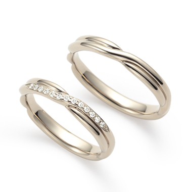 個性的 結婚指輪の縁(えにし)