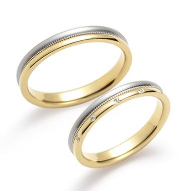 個性的 結婚指輪の東雲(しののめ)