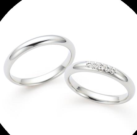 シンプル 結婚指輪の春光(しゅんこう)