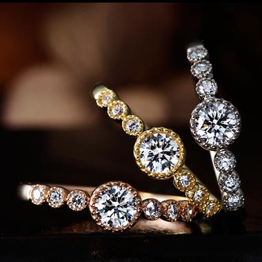 アンティーク 婚約指輪のブバルディア