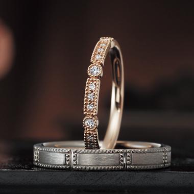 結婚指輪のラナンキュラス