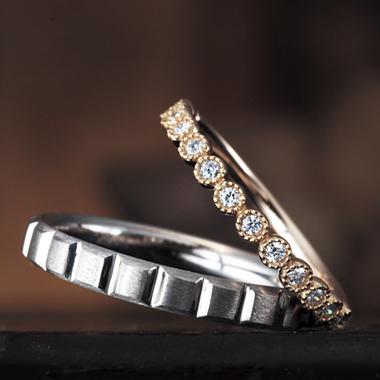 結婚指輪のミュゲ