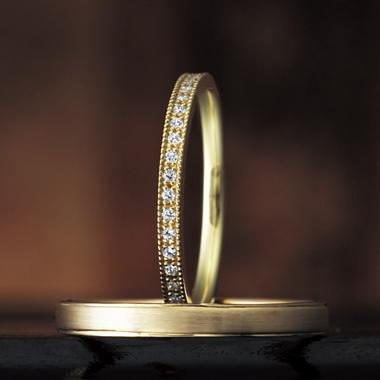 結婚指輪のベゴニア