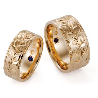 ハワイアン 結婚指輪のフラットタイプ