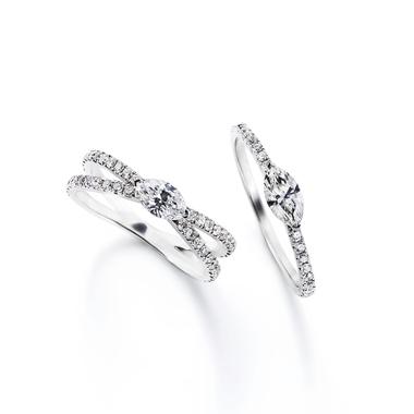 フェミニン,ゴージャス 婚約指輪のマルケーゼイクスリング・マルケーゼリング