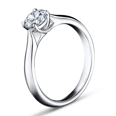 シンプル 婚約指輪のトーチ