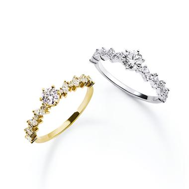 フェミニン,ゴージャス 婚約指輪のヘラリング