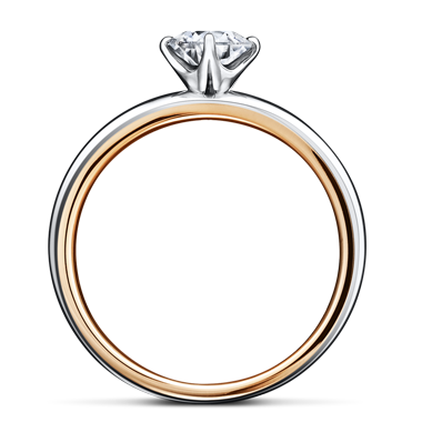 シンプル 婚約指輪のガーベラ