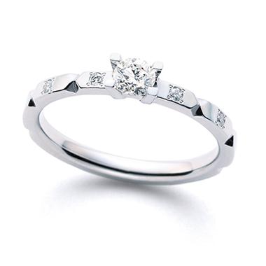 個性的 婚約指輪の折り紙