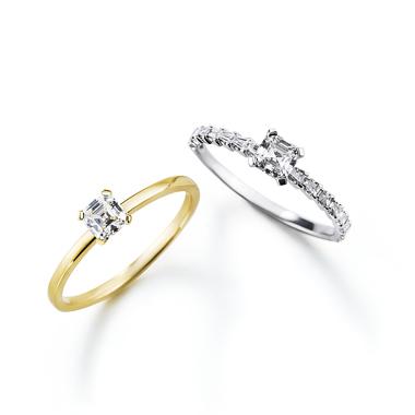 フェミニン,ゴージャス 婚約指輪のプレッジ・プレッジステアーズリング