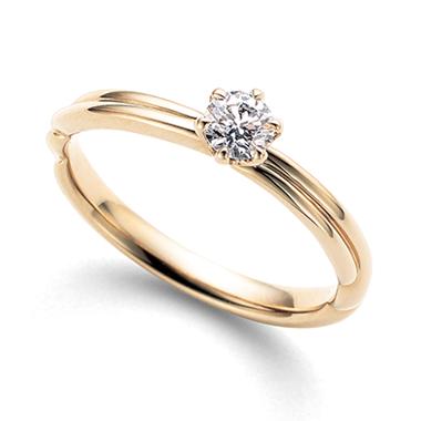 シンプル 婚約指輪の縁