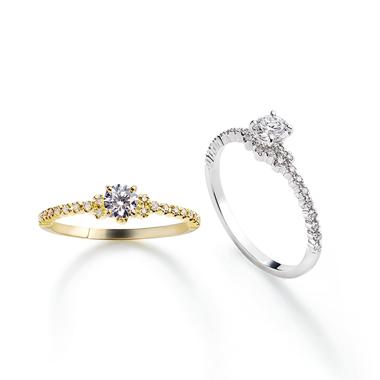フェミニン,ゴージャス 婚約指輪のアムールエンゲージリング