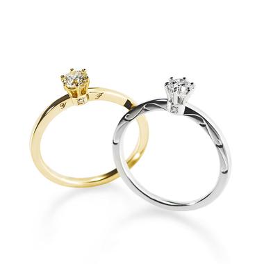 フェミニン,ゴージャス 婚約指輪のルミエラソリテールリング