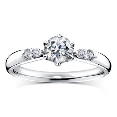 シンプル 婚約指輪のドリルトン