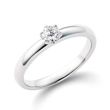 シンプル 婚約指輪の春光