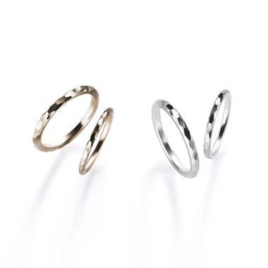 フェミニン,ゴージャス 結婚指輪のオネストミラーカットリング