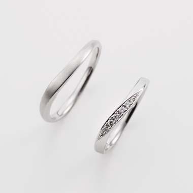 シンプル,フェミニン 結婚指輪のBA-3-Mar-L/BA-3-Mar-L