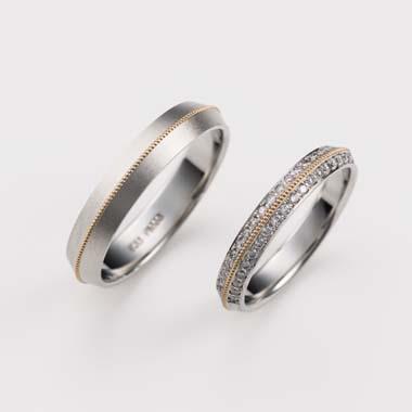 ゴージャス,個性的 結婚指輪のC-1-Mar-M/C-1-Mar-L