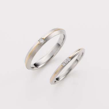 ゴージャス,個性的 結婚指輪のC-3-Mar-M/C-3-Mar-L
