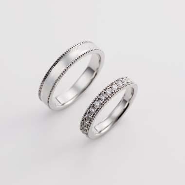 アンティーク 結婚指輪のE-1-Mar-M/E-1-Mar-L