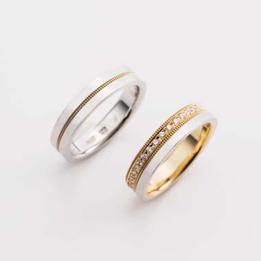 アンティーク 結婚指輪のE-2-Mar-M/E-2-Mar-L